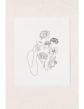 Nadja Art Woman With Flowers Iii Art Print by Nadja