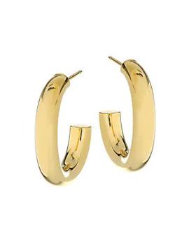 Lou 14 K Gold Vermeil Hoop Earrings by Jennifer Zeuner Jewelry