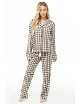Check Pyjama Set by Forever 21