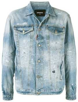 Distressed Denim Jacket by Dsquared2