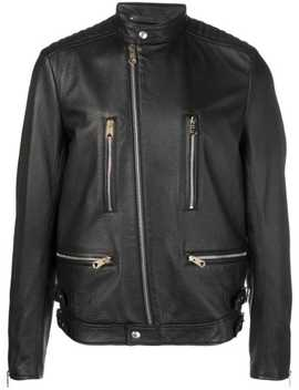 Zipped Leather Jacket by Paul Smith