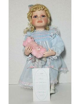 1996 Hamilton Collection Alexis Virginia Turner Porcelain Blonde Doll No. 0680 B by Hamilton Collection