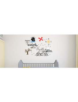 Peter Pan Wall Decal   Neverland Wall Decal   Tinkerbell Wall Decal   Treasure Map   Pirate Sticker   Pirate Decal by Etsy