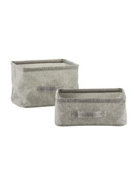 Grey Collapsible Bins by Container Store