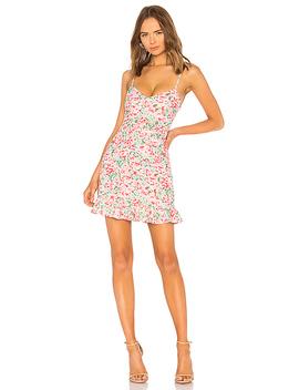 Multi Ruffle Mini Dress In Pink Blooms by Lpa