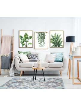 3pc Set Botanical Wall Decor Wall Art Home Decor Hd Leaf Prints On Premium Canvas With Frame by Etsy