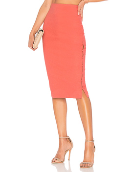 The Barton Skirt In Rose Terracotta by L'academie