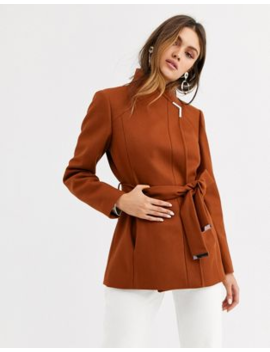 Ted Baker Drytach Short Wool Wrap Coat by Ted Baker