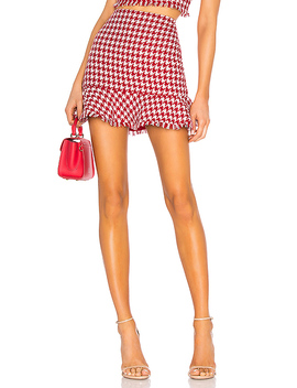 Tessie Mini Skirt In Red by Lovers + Friends