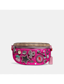 Belt Bag With Signature Canvas Detail And Souvenir Pins by Coach