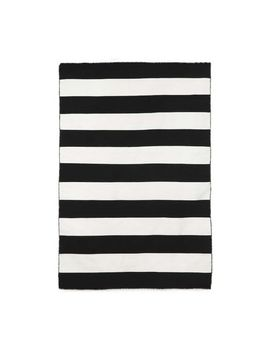 Alfie Stripe Indoor/Outdoor Rug, Black, 2 X 3' by Pottery Barn