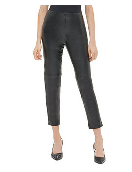 Faux Leather Skinny Pants by General