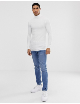 Asos Design 2 Pack Organic Muscle Fit Long Sleeve Roll Neck T Shirt Save by Asos Design