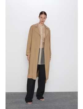 Flowy Trench Coat With Belt Coatswoman by Zara
