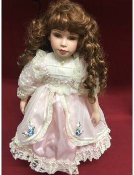 """Court Of Dolls 388/2000 24"""" Porcelain Doll W/ Pink Satin/Lace Dress Faux Pearls by Ebay Seller"""