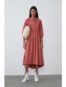 Contrast Dress Midi Dresses Trf by Zara