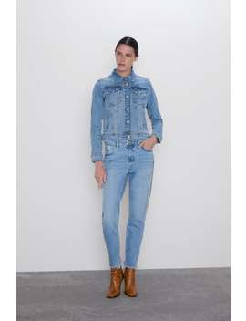 Jeans Z1975 Mom Fit Bejewelled Stripes View All Jeans Woman by Zara