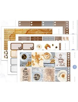 Love Coffee Planner Weekly Kit | October Weekly Kit | November Weekly Kit | December Weekly Kit   Erin Condren Planner Weekly Kit Stickers by Etsy
