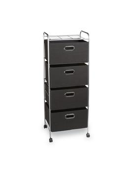 Essential Home 4 Drawer Wire Storage Cart   Black Essential Home 4 Drawer Wire Storage Cart   Black by Kmart