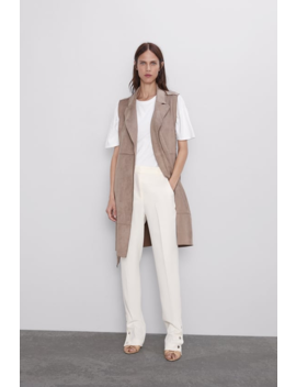 Faux Suede Waistcoat New Inwoman by Zara