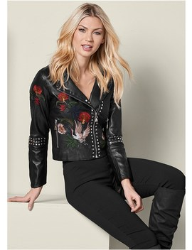 Moto Faux Leather Jacket by Venus