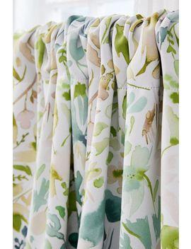 Ninola Design For Deny Green Flowers + Ivy Room Darkening Window Panel by Deny Designs