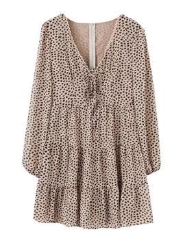 'eli' Leopard Print Flared Dress by Goodnight Macaroon