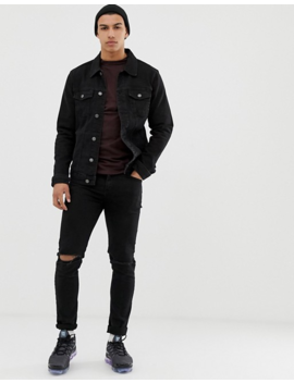 Pull&Amp;Bear Denim Jacket In Black by Pull&Bear