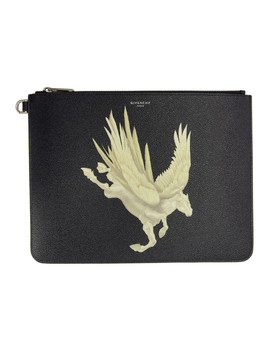 Black Pegasus Pouch by Givenchy