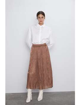 Long Shimmery Skirt New Inwoman by Zara