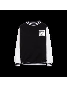 Teddy Label Cotton Sweatshirt by Moschino