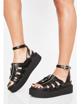 Sweet Lies Creeper Sandals by Lamoda