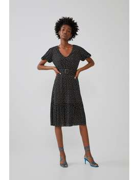 Belted Polka Dot Dress View All Dresses Woman by Zara