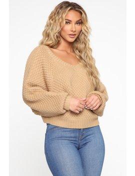 I Adore You Sweater   Mocha by Fashion Nova