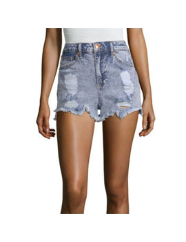 "Almost Famous Womens High Waisted 2 1/2"" Denim Short Juniors by Almost Famous"