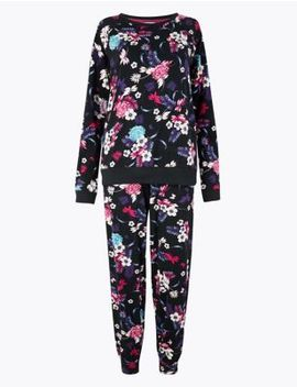 Bold Floral Long Sleeve Pyjama Set by Marks & Spencer