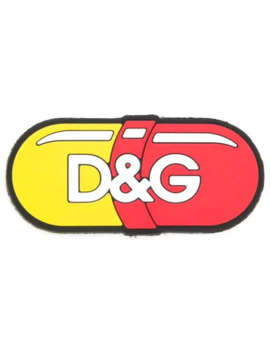 Pill Shaped Logo Patch by Dolce & Gabbana