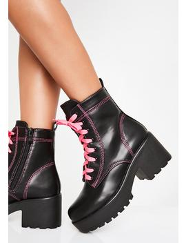 Candy Kitana Combat Boots by Koi Footwear
