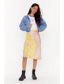 Apple Of My Dye Satin Midi Skirt by Nasty Gal