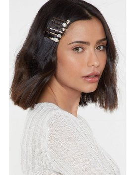 I've Had It Up To Hair Diamante 6 Pc Hair Slide Set by Nasty Gal