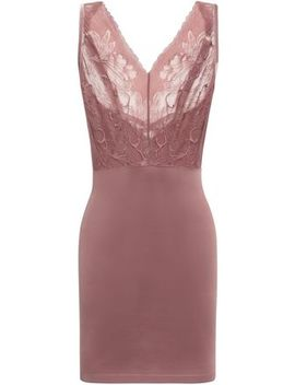 Paneled Lace And Stretch Jersey Slip Dress by Wolford