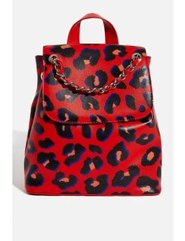 **Ada Leopard Backpack By Skinnydip by Topshop