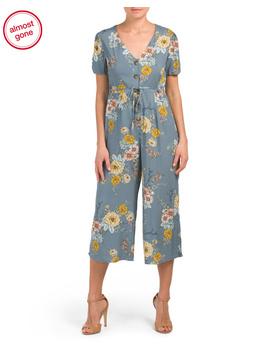 Juniors Floral Button Jumpsuit by Tj Maxx