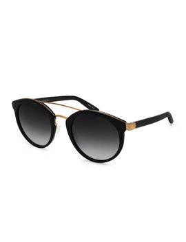 Dalziel Round Sunglasses With Metal Bar by Barton Perreira