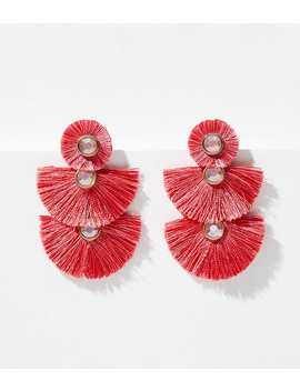 Fringe Triple Drop Earrings by Loft