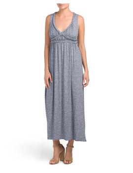 Sleeveless Stripe V Neck Maxi Dress by Tj Maxx