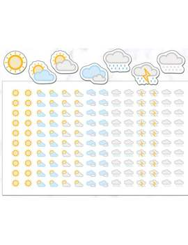 weather-stickers-|-140-weather-planner-stickers-|-planner-stickers-|-journal-stickers-|-diary-stickers-|-bullet-journal-stickers by etsy