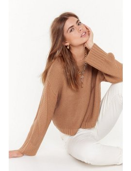 Let's Knit The Road Relaxed Sweater by Nasty Gal