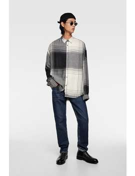 Camisa Estructura Cuadros Ver Todo Camisas Hombre by Zara