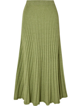 Cleo Ribbed Cotton Midi Skirt by Anna Quan